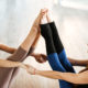 practicing acro yoga